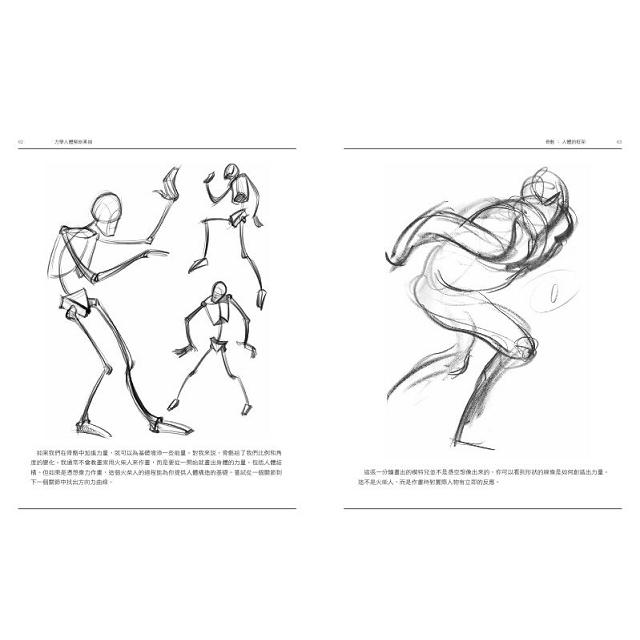 力學人體解剖素描 畫出力的表現1
