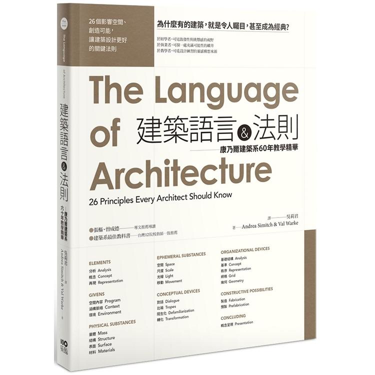建築語言&法則:康乃爾建築系60年教學精華