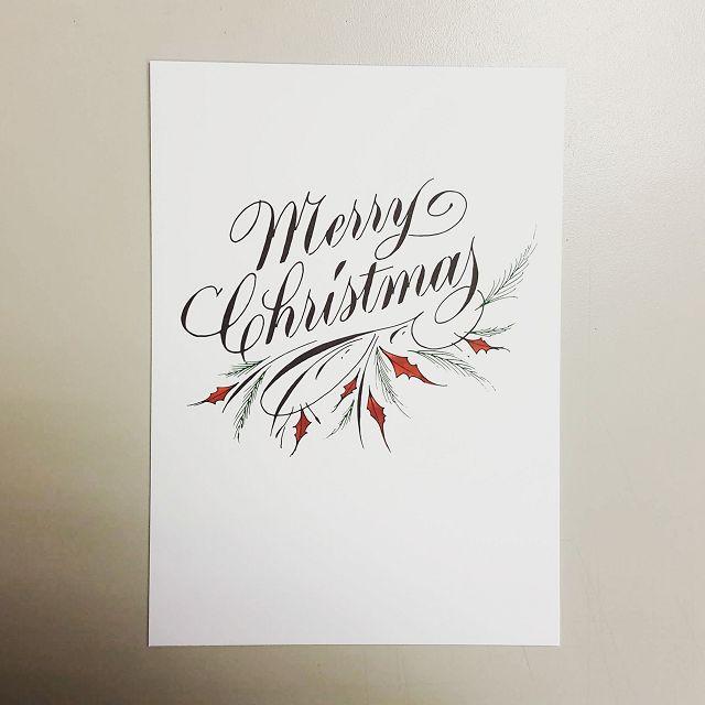 西洋書法家幾不「Merry Christmas」精美明信片