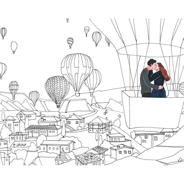 歐洲轉角遇到愛:走過十個城市遇見一段愛情著色書