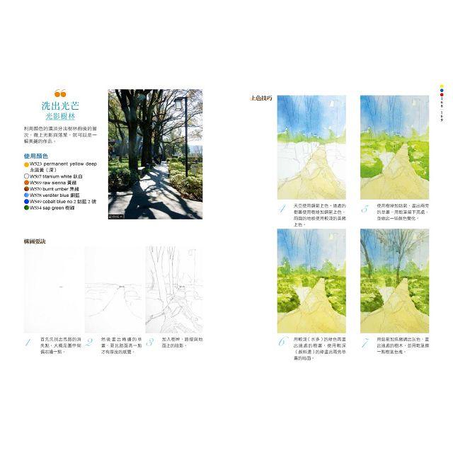 零基礎水彩畫教室2:讓草木花果?公園森林都隨心所欲寫意入畫