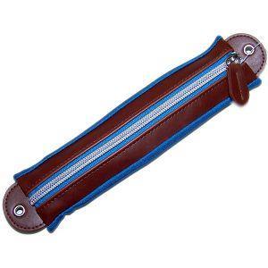 伸縮筆袋/藍