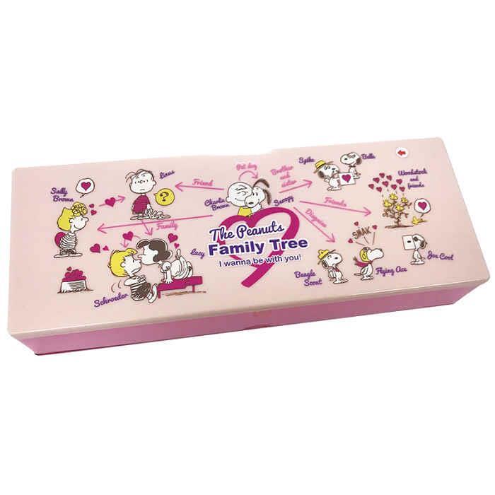 塑膠筆盒-史努比/粉色關係圖