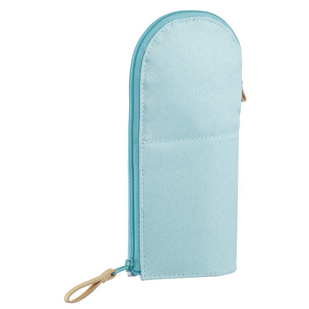 KOKUYO 站立筆袋-柔色圓領藍