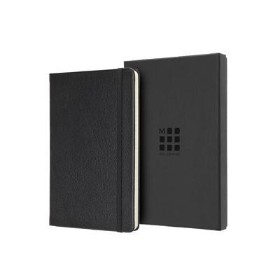 MOLESKINE  經典皮革L型橫線盒裝筆記本-黑