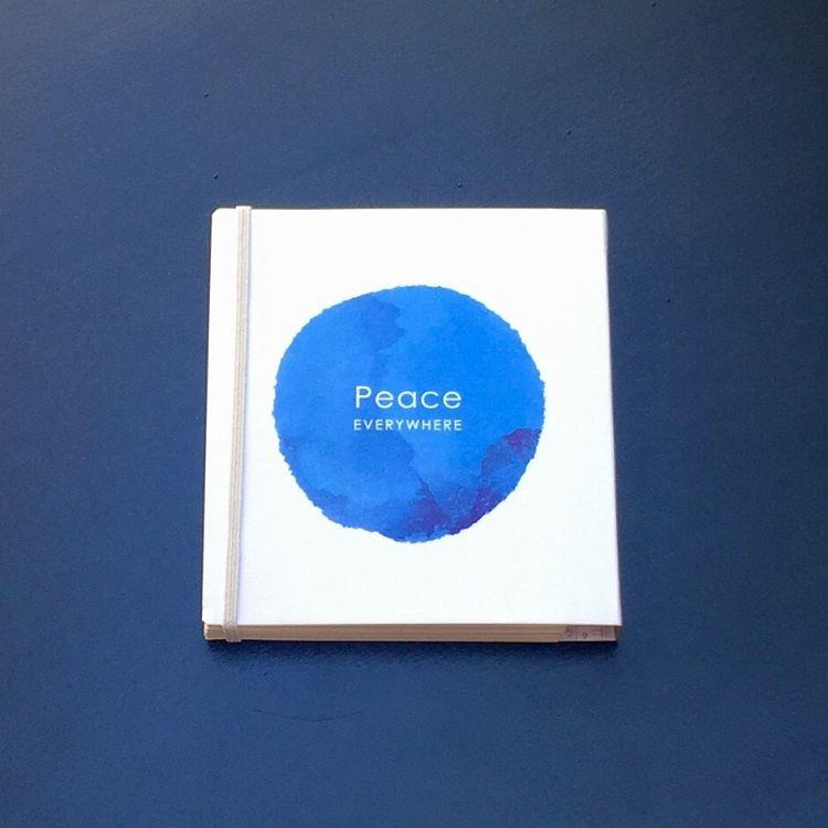 水月染系列 多功能可換內頁小筆記本-和平