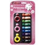 2016Primomo普麗貓趣味蠟筆(皇后戒指)12色-附橡皮擦