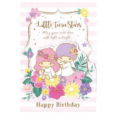 LittleTwinStars雙子星生日卡