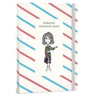 Dorothy無時效日誌手帳(含貼紙+書籤)-紅藍斜紋