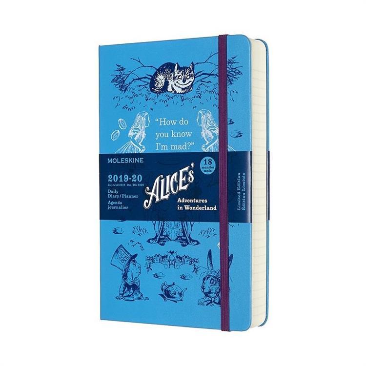 【MOLESKINE】2020限定版愛麗絲日記跨年手帳-硬殼L型-藍 8707