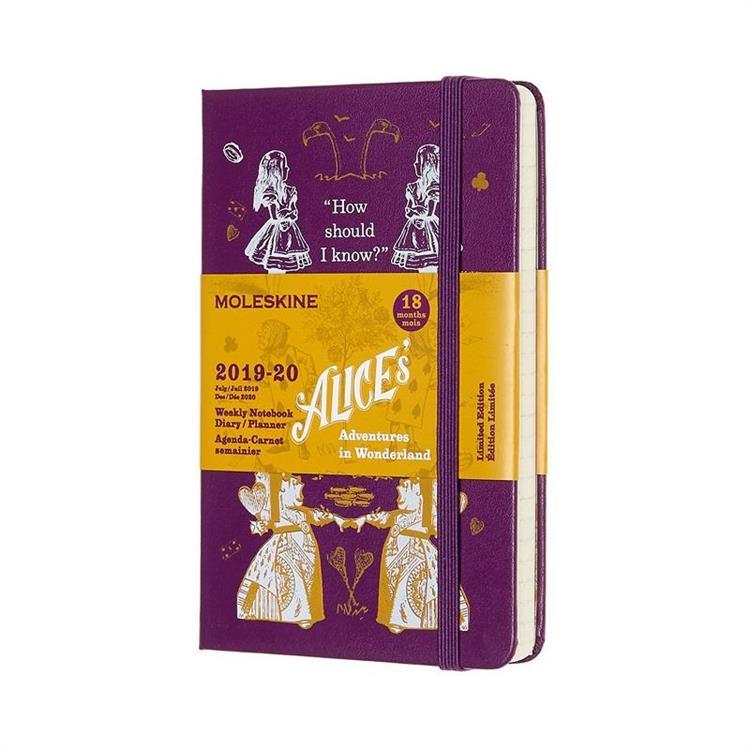 【MOLESKINE】2020限定版愛麗絲週記跨年手帳-硬殼口袋型-紫 0189