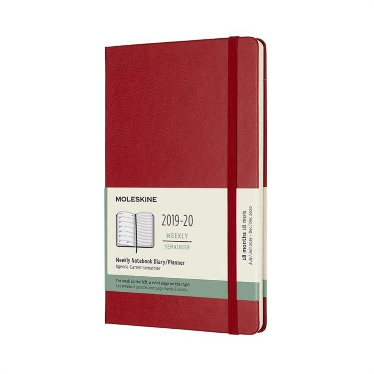 【MOLESKINE】2020週記跨年手帳-硬殼L型-紅 9452