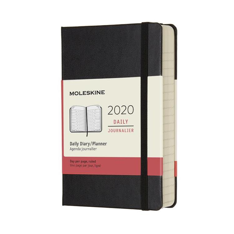 2020年【MOLESKINE】日記12M硬殼-口袋黑