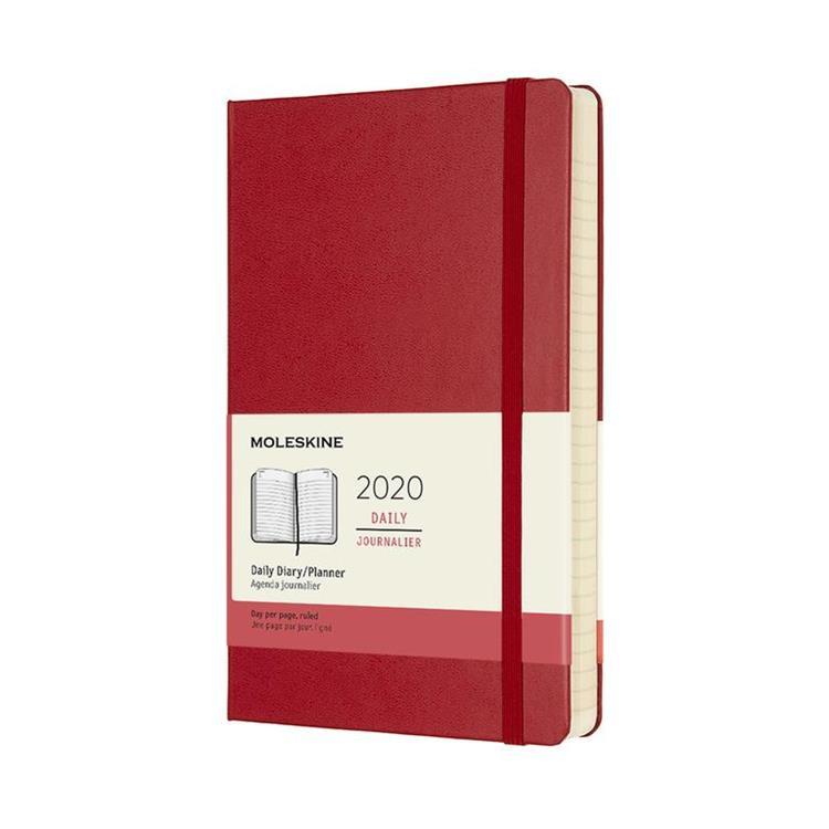 2020年【MOLESKINE】日記12M硬殼-L紅