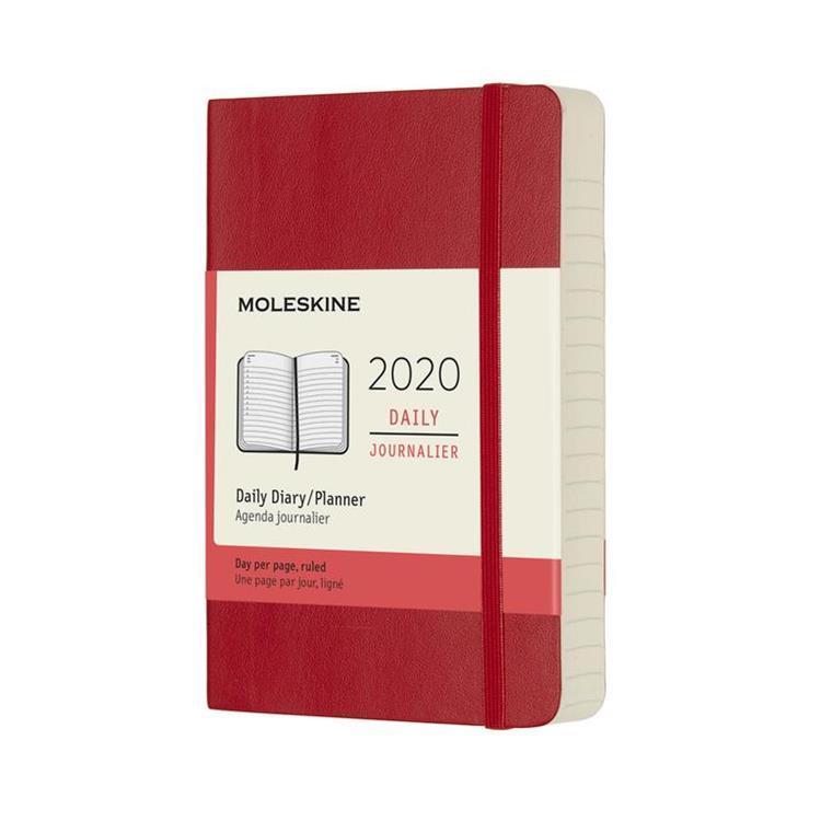2020年【MOLESKINE】日記12M軟皮-口袋紅