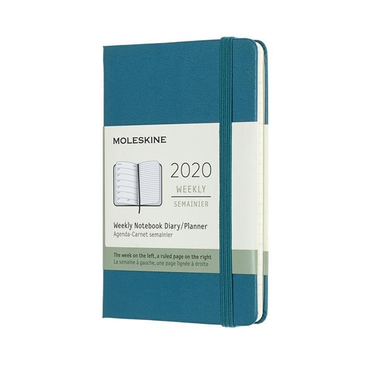 2020年【MOLESKINE】週記12M硬殼-口袋綠