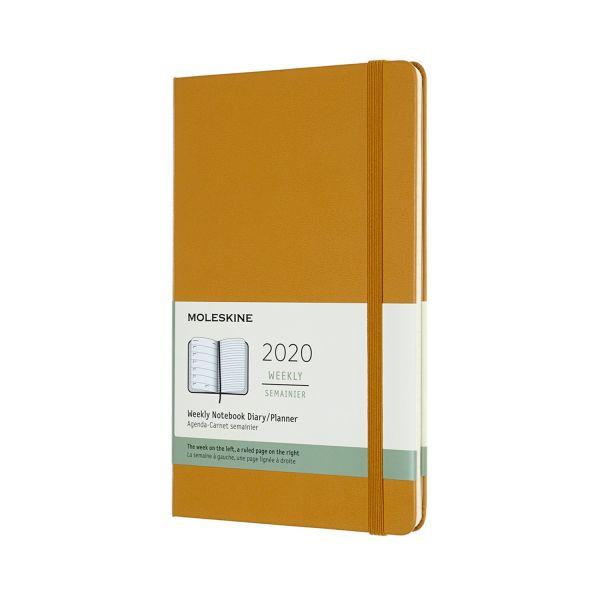 2020年【MOLESKINE】週記12M硬殼-L黃褐
