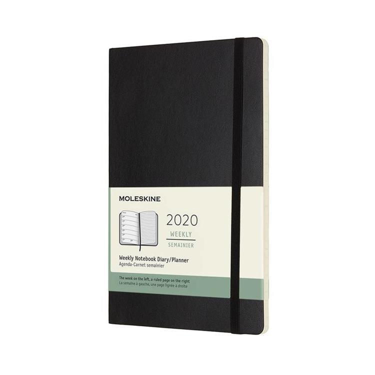 2020年【MOLESKINE】週記12M軟皮-L黑