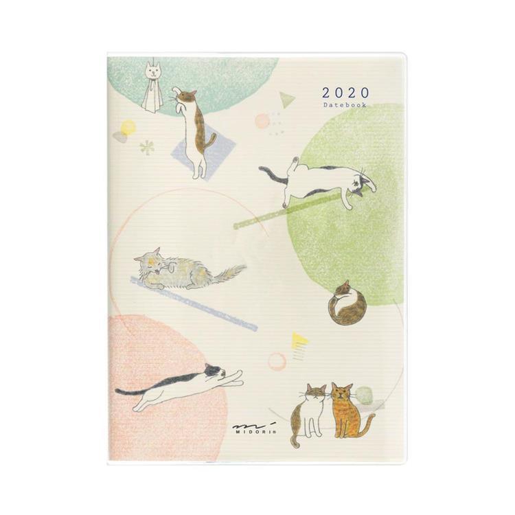 2020手帳(月雙週)A6小貓咪