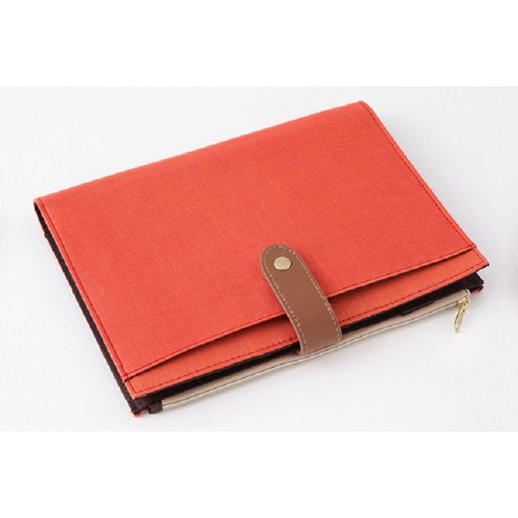 2020亞麻手帳收納包(A5)紅