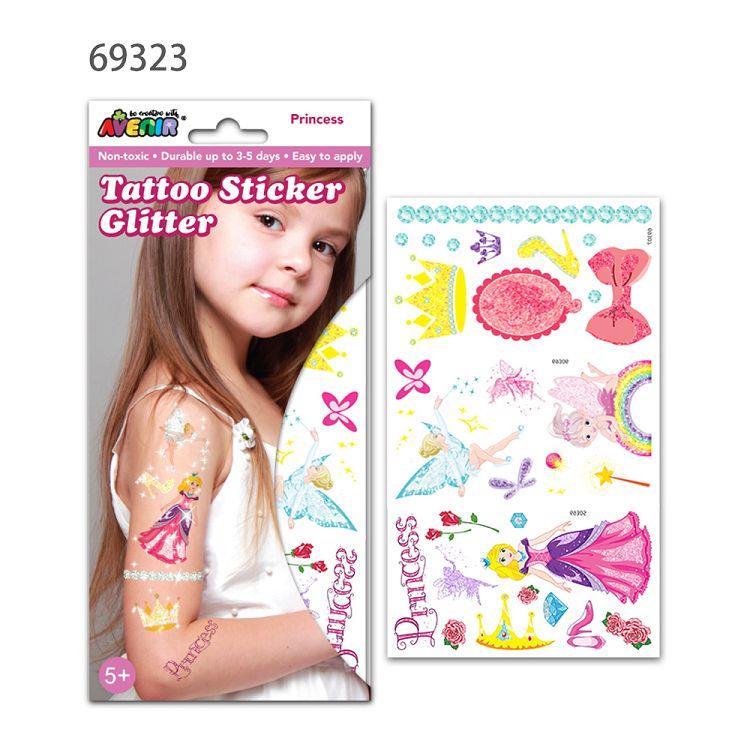 AVENIR Kids / 男孩女孩個性刺青貼-閃光刺青貼A 公主69323