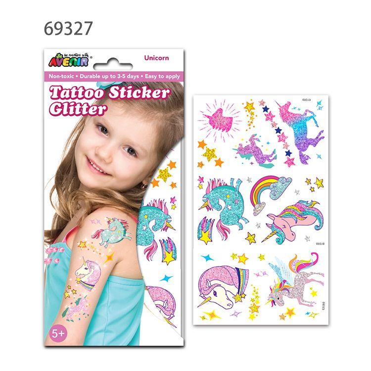 AVENIR Kids / 男孩女孩個性刺青貼-閃光刺青貼E 獨角獸 69327