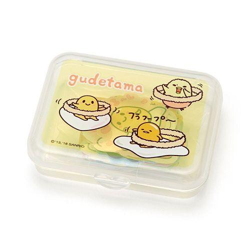 【Sanrio】散裝貼紙組(附收納盒)-蛋黃哥