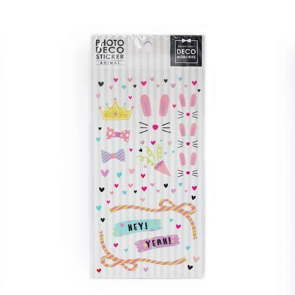 協和紙工照片裝飾貼/ 兔子派對