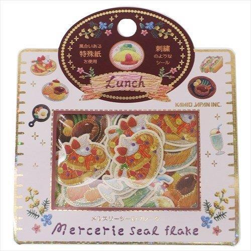 仿刺繡金箔貼紙包-午餐