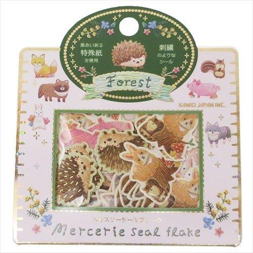 仿刺繡金箔貼紙包-森林小動物
