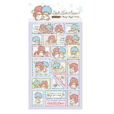 LittleTwinStars郵票貼紙