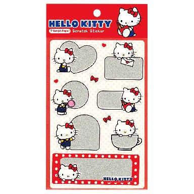 Hello Kitty 刮刮墨貼紙