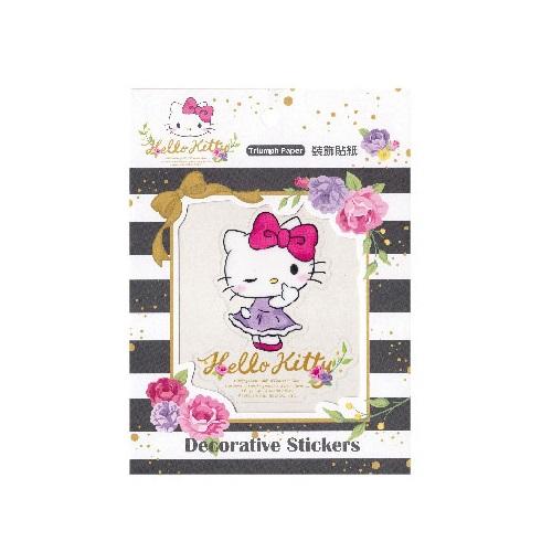 Hello Kitty裝飾貼紙-花草系