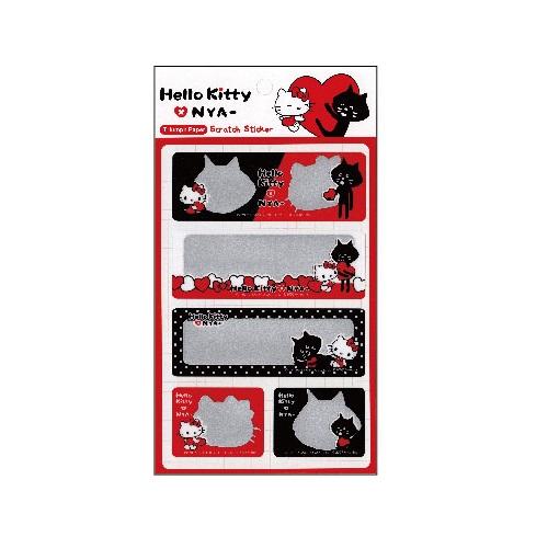 Hello Kitty x NYA-刮刮墨貼紙SR-ST271