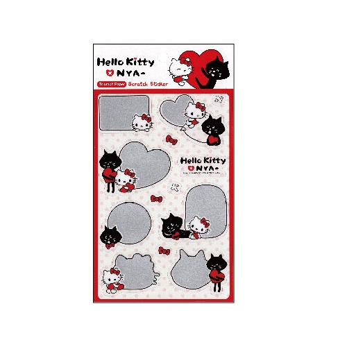 Hello Kitty x NYA-刮刮墨貼紙SR-ST272