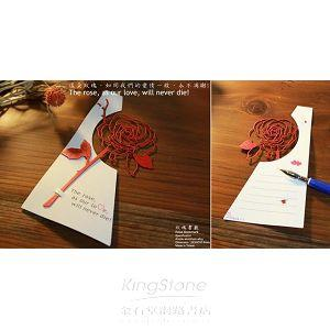 Desk+1玫瑰書籤(紅)