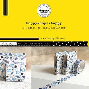 【hoppy】 Forest-Leaf1 瓢蟲藍紙膠帶