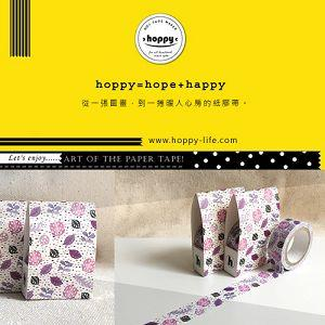 【hoppy】 Forest-Leaf2 瓢蟲紫紙膠帶