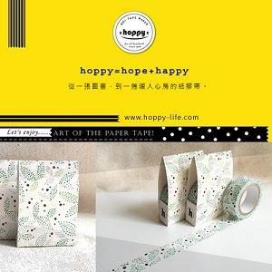 【hoppy】 Forest-Profusion1 點葉子綠紙膠帶