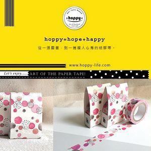 【hoppy】 Forest-Bubble3 泡泡圓紅紙膠帶