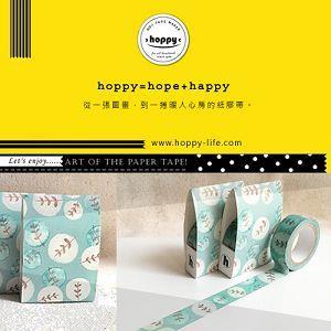 【hoppy】Forest-Quiet1 圓樹深綠紙膠帶