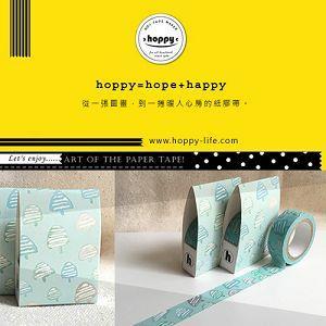【hoppy】 Forest-Blossom1 三角樹綠紙膠帶
