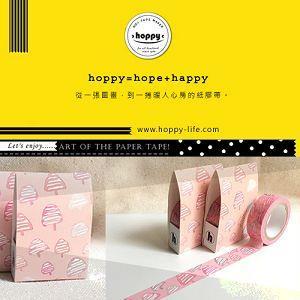 【hoppy】 Forest-Blossom2 三角樹粉紅紙膠帶