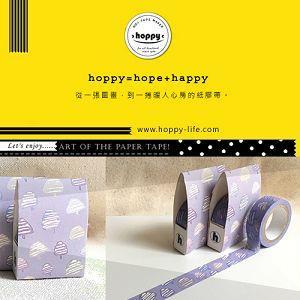 【hoppy】 Forest-Blossom3 三角樹紫紙膠帶