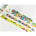 日本進口 bande 和紙貼紙 動物園 系列 - 野生動物園 ( BDA 222 )
