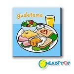Manto DIY數字油畫-蛋黃哥-早餐約會-20*20