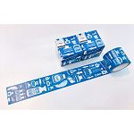 hoppy mini box-Map-油墨-藍 紙膠帶