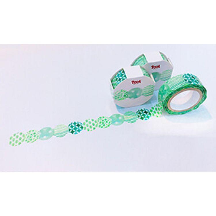 【TooL】波浪膠帶-綠球