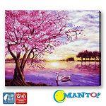 【Manto】DIY數字油畫-紫金焙櫻-40*50