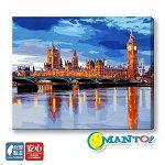 【Manto】DIY數字油畫-倫敦的早晨-40*50